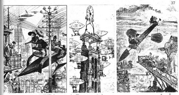 La Torre Robidaprendeil nome dal primo illustratore di fantascienza, Albert Robida (1848 –1926).