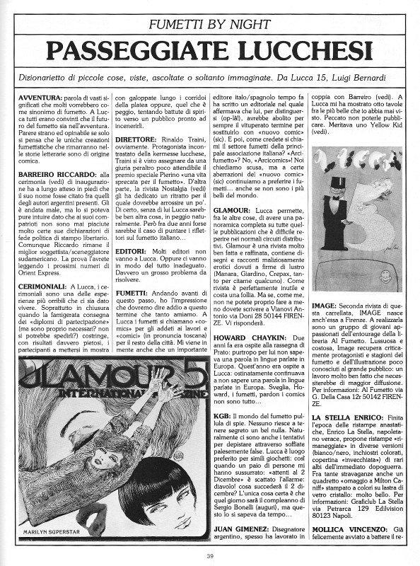Reportage del quindicesimo Salone di Lucca, pagina 1, tratto dal n. 6 della rivista Orient Express