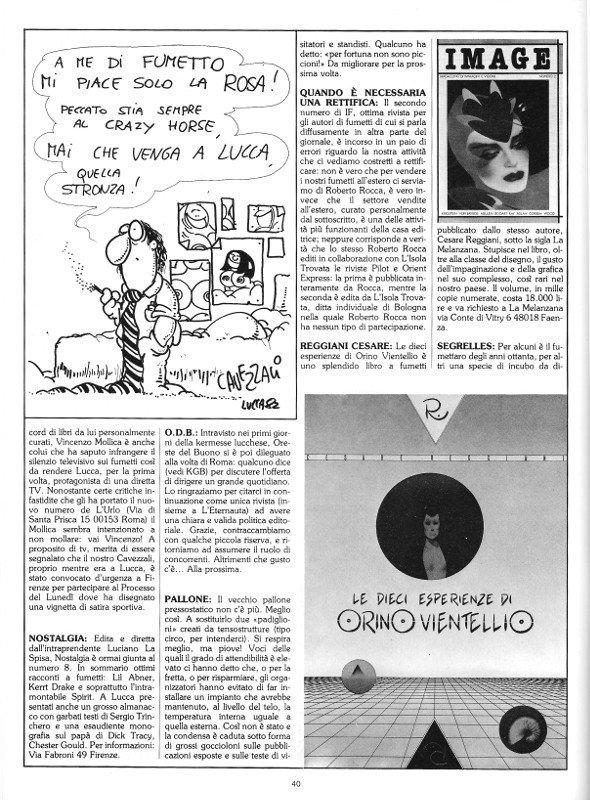 Reportage del quindicesimo Salone di Lucca, pagina 2, tratto dal n. 6 della rivista Orient Express