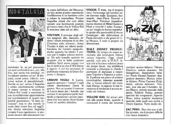 Reportage del quindicesimo Salone di Lucca, pagina 3, tratto dal n. 6 della rivista Orient Express