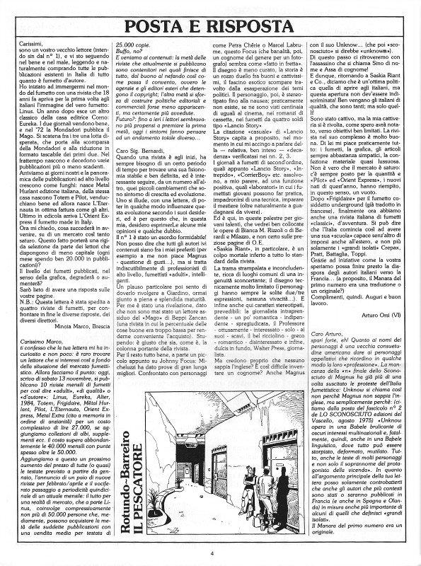 Pagina della posta del n. 6 della rivista Orient Express