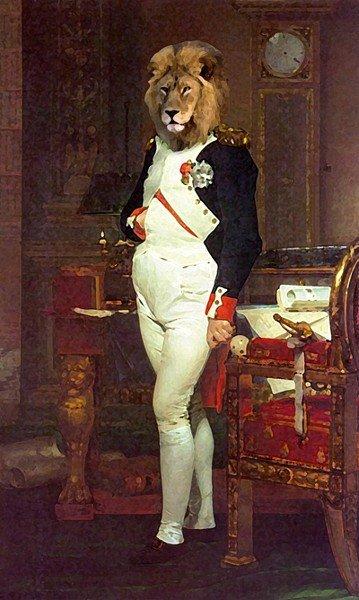 Quadro adattato da l'Imperatore Napoleone nel suo studio alle Tuileries, 1812 di Jacques-Louis David.. Immagine 2 di 9