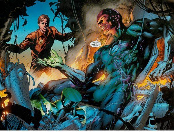 Hal Jordan che riceve l'anello