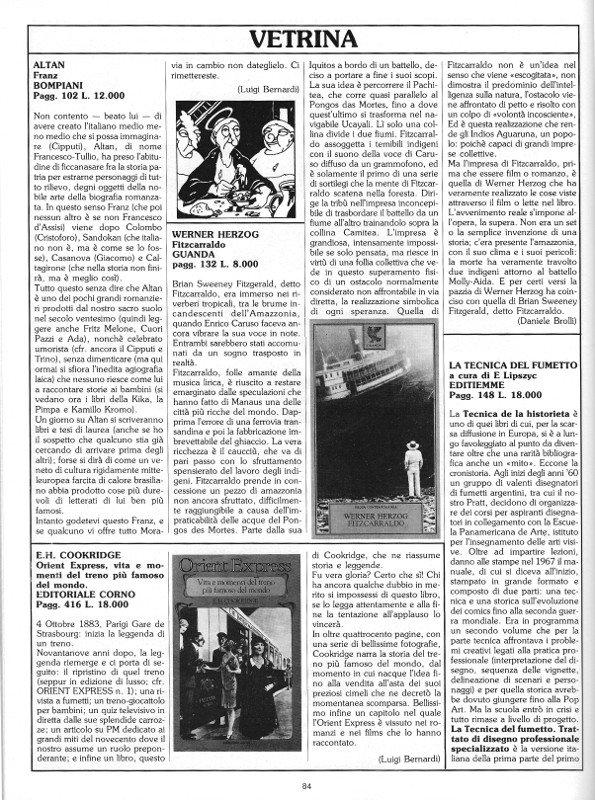 """Rubrica """"Vetrina"""", tratta dal n. 7 di O.E., prima pagina"""