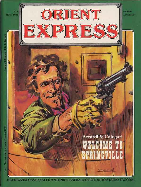 L'immagine della copertina del n. 9 della rivista Orient Express  (Marzo 1983)