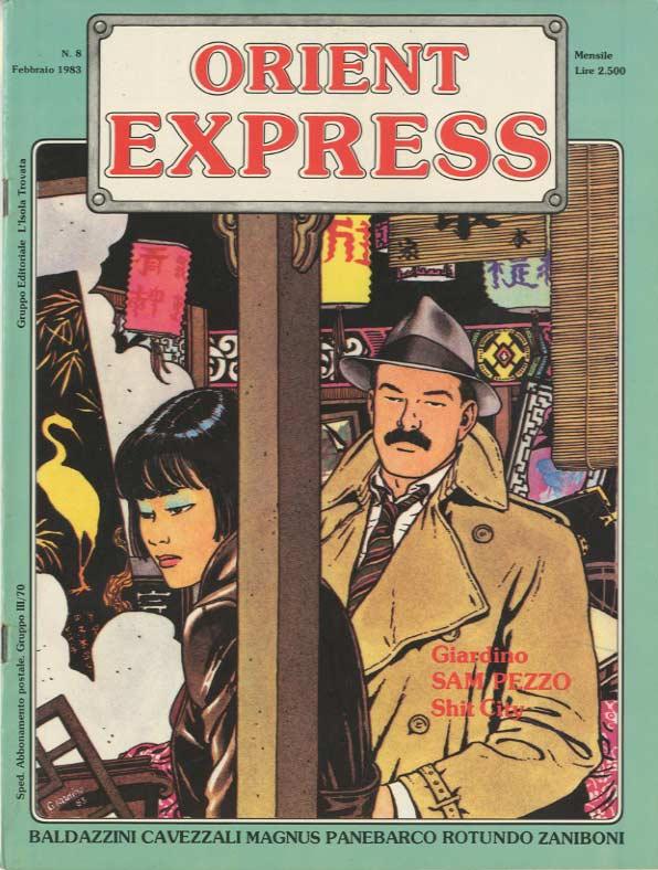 L'immagine della copertina del n. 8 della rivista Orient Express  (Febbraio 1983)
