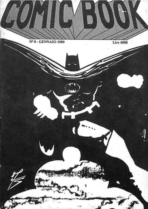 Copertina del numero zero di comic Book, disegnata dall'artista barcellonese Salvatore Fugazzotto (oggi Ingegnere informatico)
