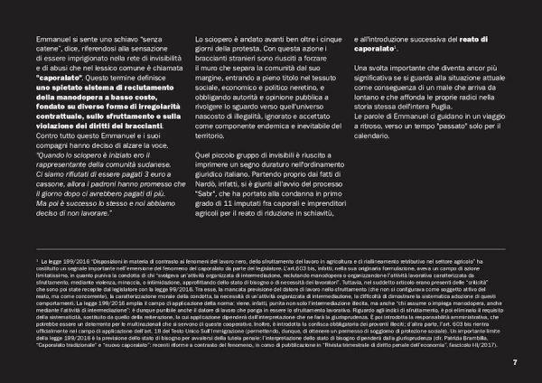 """pagina 2 (solo testo) tratta dal secondo capitolo di """"DOVE L'ERBA TREMA. Vite invisibili nelle campagne d'Italia."""""""