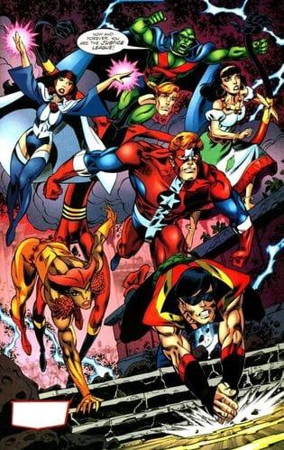 Justice League di Detroit con Vibe, Vixen, Gipsy, Eloganted man