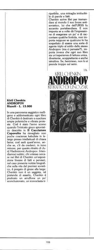 "Rubrica ""Vetrina"", recensione tratta dal n. 11 di O.E."