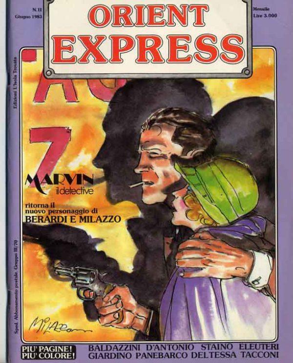 L'immagine della copertina del n. 10 della rivista Orient Express  (Giugno 1983)