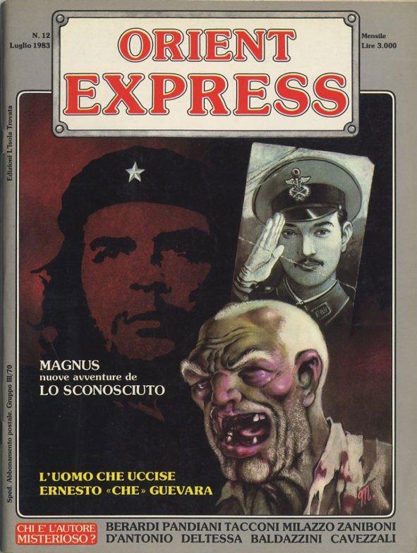 L'immagine della copertina del n. 12 della rivista Orient Express  (Giugno 1982), ad opera di Magnus