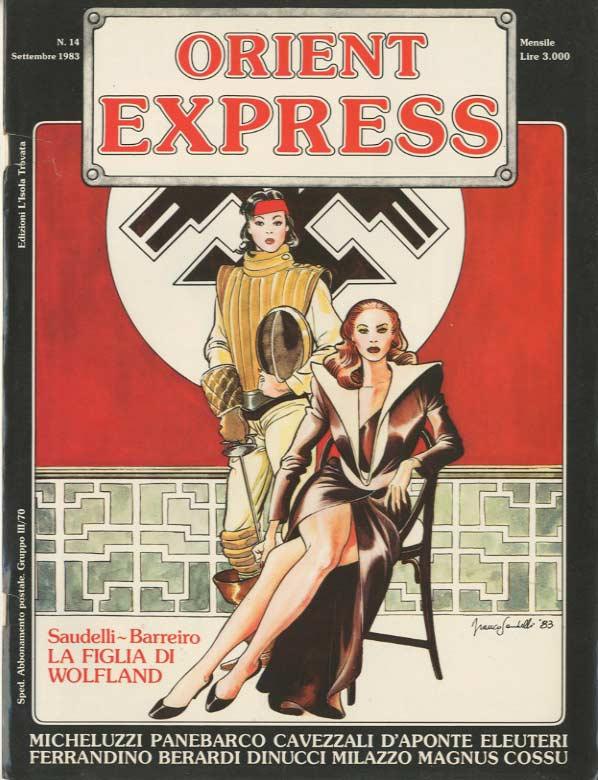 L'immagine della copertina del n. 14 della rivista Orient Express  (settembre 1983)
