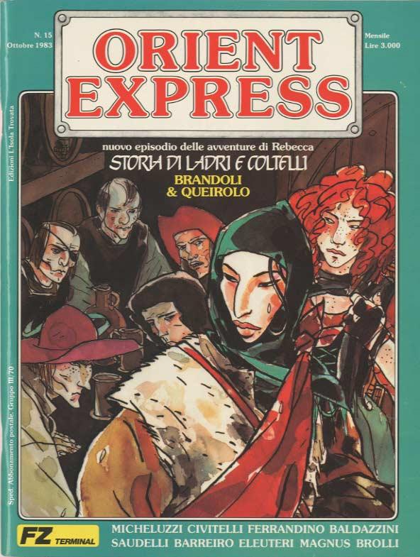 L'immagine della copertina del n. 15 della rivista Orient Express  (ottobre 1983)