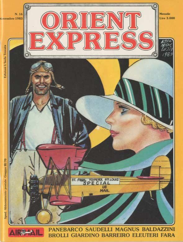 L'immagine della copertina del n. 16 della rivista Orient Express  (novembre 1983)