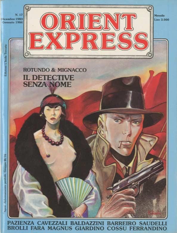 L'immagine della copertina del n. 17 della rivista Orient Express  (Dicembre 1983-Gennaio1984)