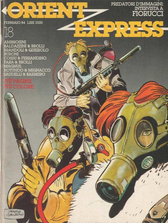 L'immagine della copertina del n. 18 della rivista Orient Express  (febbraio 1984)
