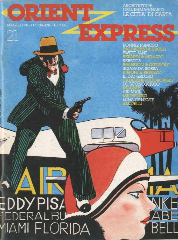L'immagine della copertina del n. 21 della rivista Orient Express  (maggio 1984)