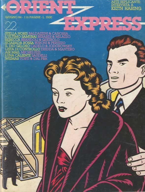 L'immagine della copertina del n. 22 della rivista Orient Express  (Giugno 1984)