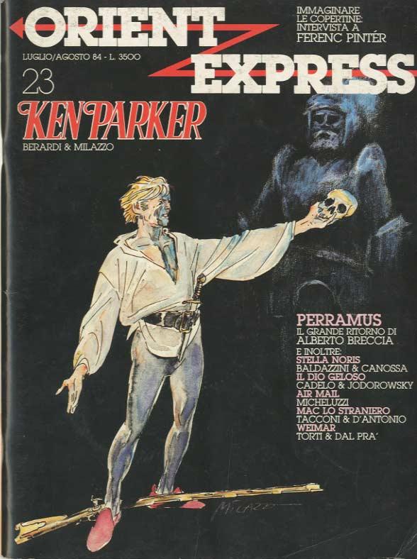 L'immagine della copertina del n. 23 della rivista Orient Express  (Luglio/Agosto 1984) è dedicata a Ken Pparker