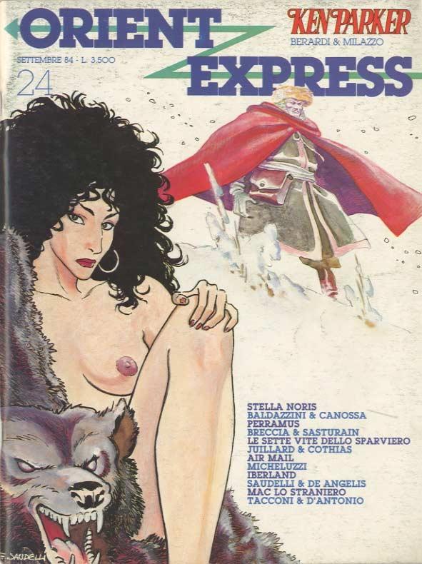 Copertina del n. 24 della rivista Nova Express (settembre 1984)