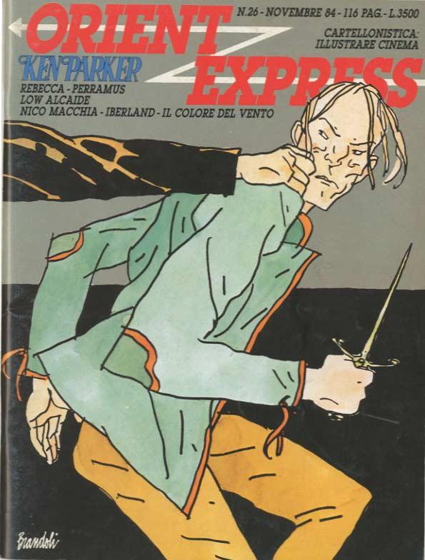 Copertina del n. 26 della rivista Orient Express . (novembre 1984)