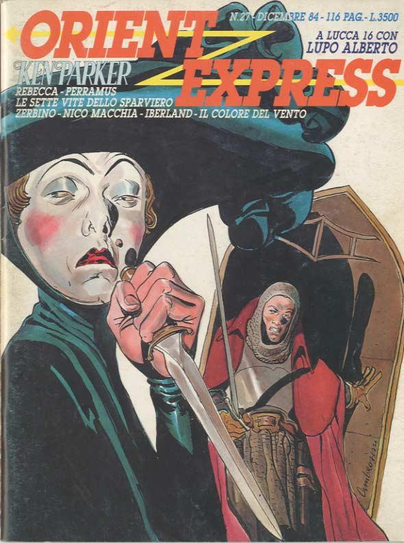 L'immagine della copertina del n.27 della rivista Orient Express  (Dicembre 1984) è di Carlo Ambrosini