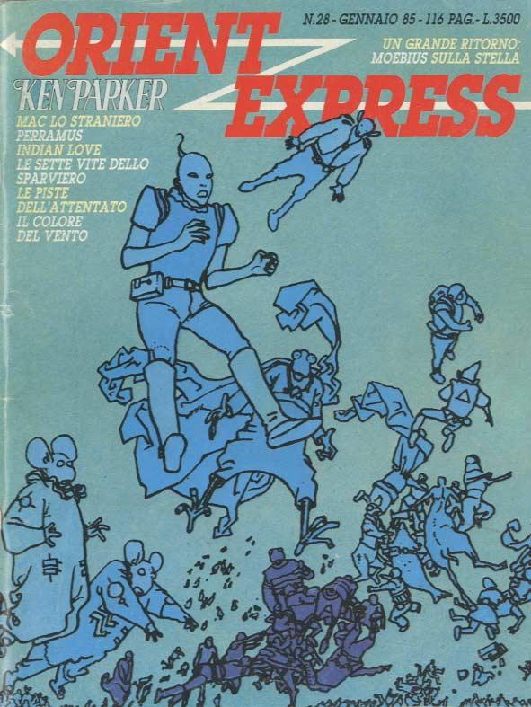 copertina del n. 28della rivista Orient Express  (gennaio 1985)