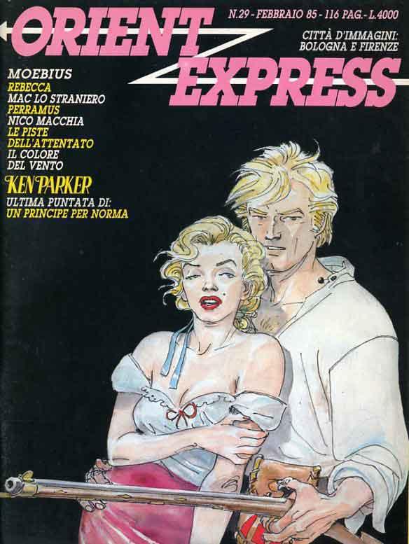 L'immagine della copertina del n. 29della rivista Orient Express  (febbraio 1985)