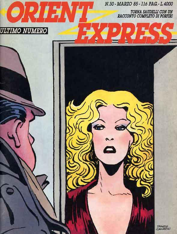 L'immagine della copertina del n. 30, l'ultimo della rivista Orient Express  (Marzo 1985)