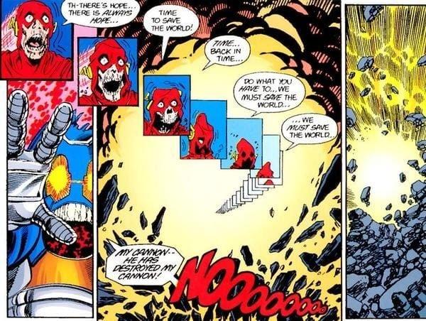 """Il sacrificio di Barry Allen da """"Crisi sulle infinite Terre"""""""