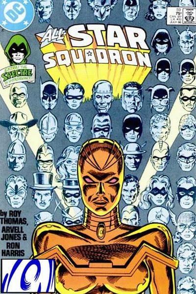 Mekanique che bloccò temporaneamente gli eroi della Golden Age. cover di All'Star Squadron n. 59