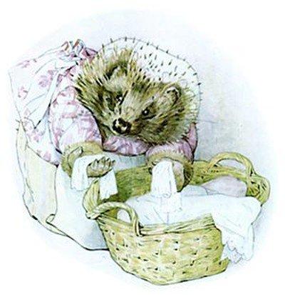 La Sig.ra Erisson è la Sig.ra Tiggy-Winkle, dal libro di Beatrix Potter (La storia della signora Trovatutto). Deve essersi risposata
