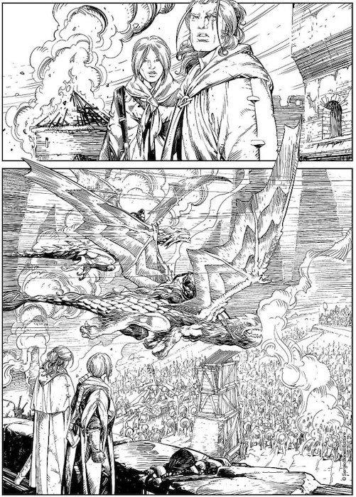 Altra Tavola tratta da Dragonero n. 69 - © SBE