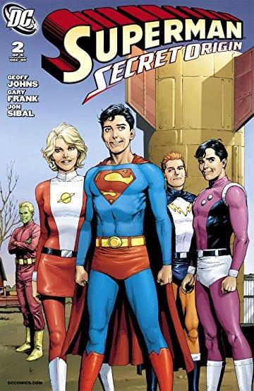 Anche Superman vede riscritte le sue origini tornando ad essere un membro della Legione dei Supereroi ....