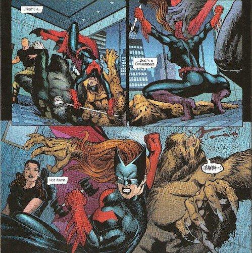 Batwoman alla ricerca della Bibbia del crimine. Una delle sue prime apparizioni