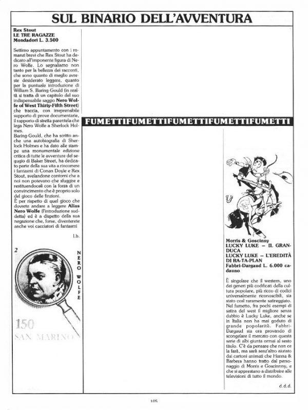 """Le recensioni di Luigi Bernardi  estratte dalla Rubrica """"Sul binario dell'avventura"""".  N. 15 della rivista Orient Express, pag. 105"""