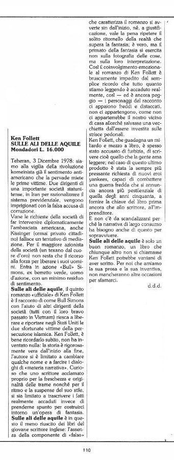 """Rubrica """"Sulla strada dell'Avventura"""", tratta dal n. 15 di O.E. con le recensioni scritte da Luigi Bernardi e d Dominique Del Dongo"""