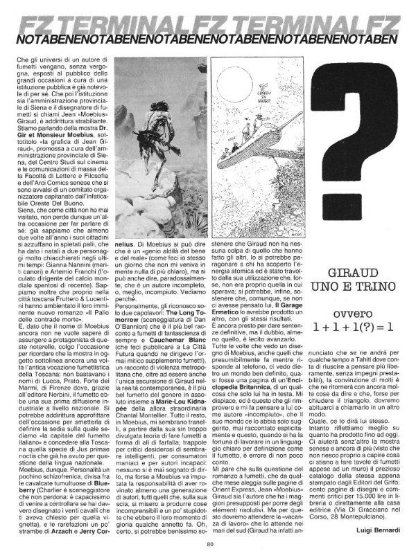 """Articolo """"GIRAUD EUNO E TRINO, tratto dal n. 16 della rivista Orient Express"""