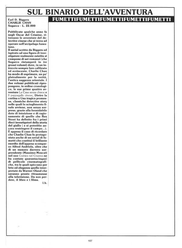 """Le recensioni di Luigi Bernardi  estratte dalla Rubrica """"Sul binario dell'avventura"""".  N. 16 della rivista Orient Express, pag. 107"""