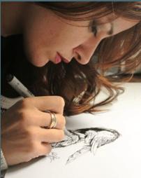 FOTO DI Paola Del Prete,  fumettista -illustratrice