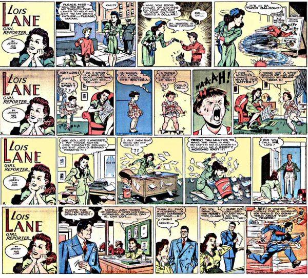 Seconda parte delle rarissime strisce dedicata a Lois Lane: Girl Reporter