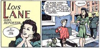 Stralcio di una striscia dedicata a Lois Lane