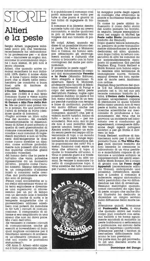 L'articolo di approfondimento su Sergio Altieri.
