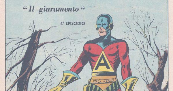 immagine promozionale della mostra #Supereroi e #giustizieri  del fumetto italiano ad etnacomics 2019