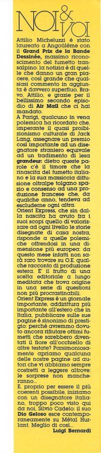 L'editoriale di Luigi Bernardi, tratto dal n. 19 di Orient express (pagina 3)