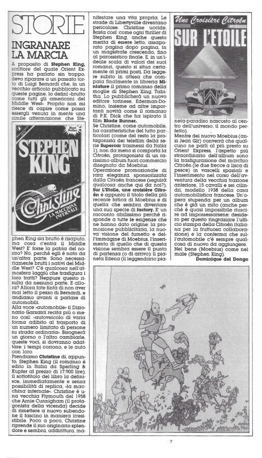 un bell'articolo per la rubrica Storie, dedicato alle auto, dal n. 20 di Orient Express