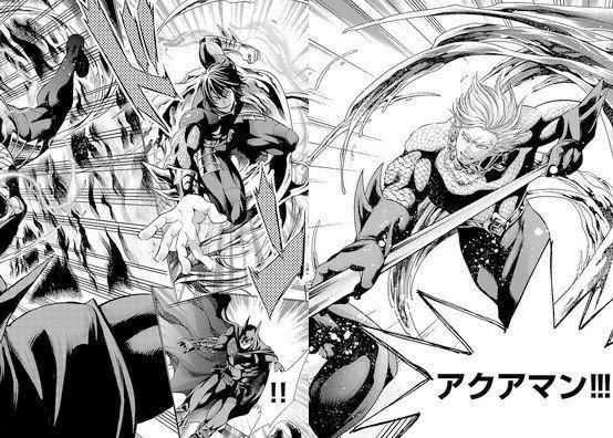 Altra tavola dal manga batman e la justice league
