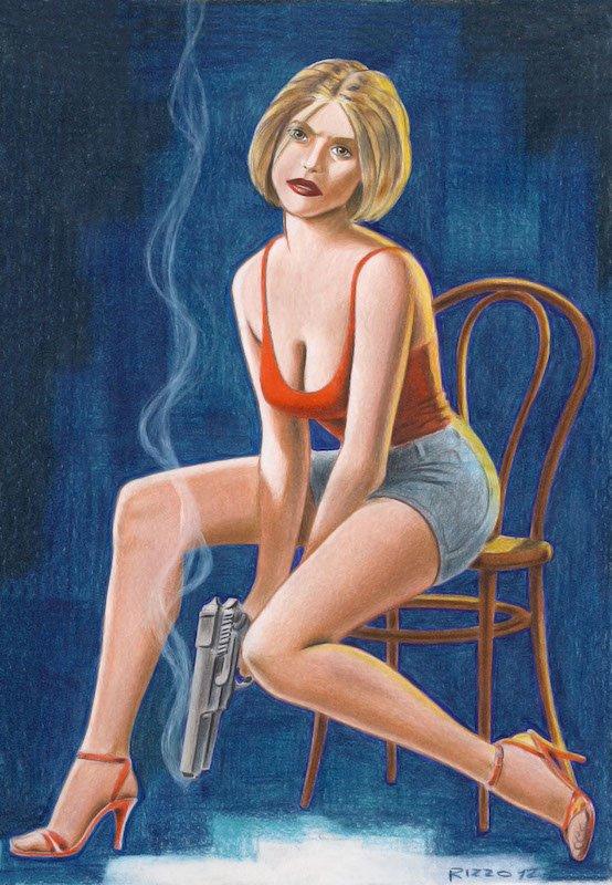 L'illustrazione dedicata a Tulip, protagonist di The Preacher,  è di Giancarlo rizzo, fatta a pastelli a cera su carta.
