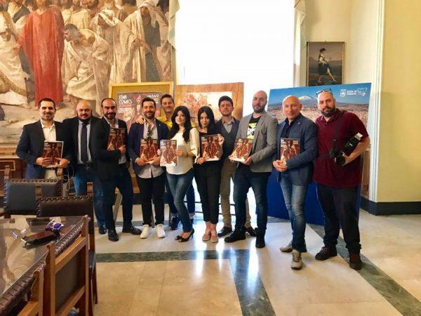 Foto di gruppo dello staff organizzativo di Etna Comics 2019